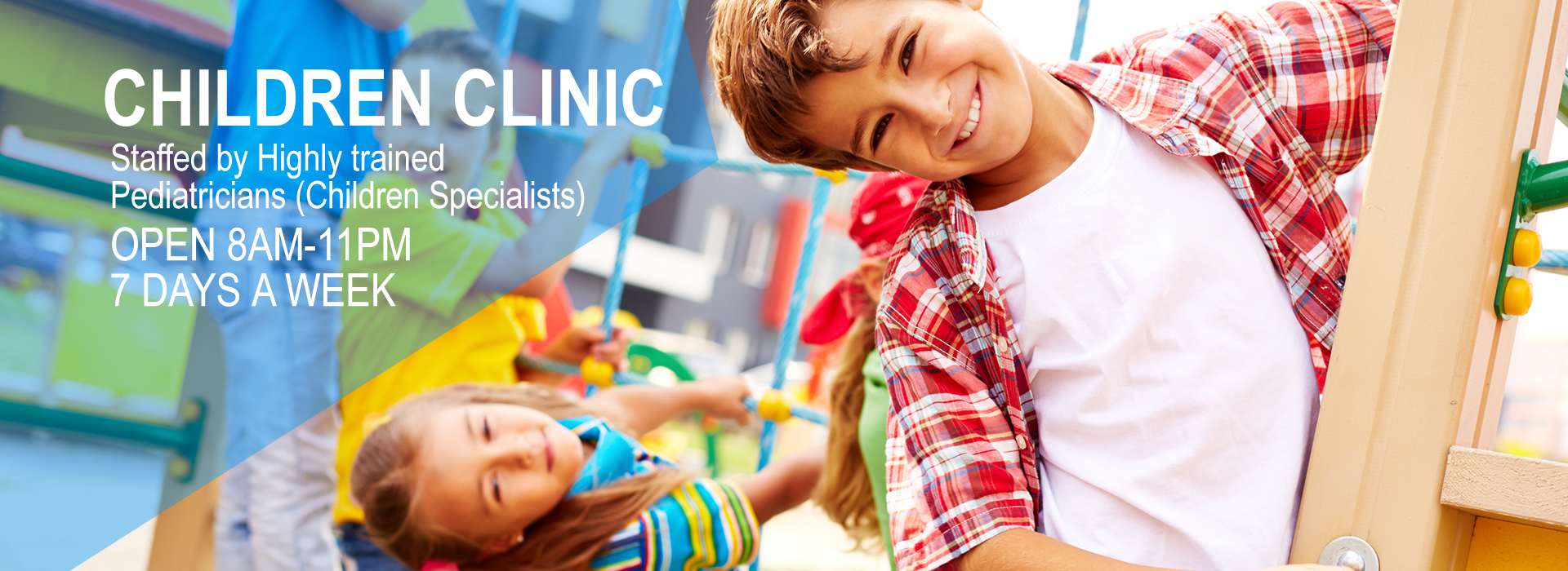 Fully qualified pediatricians are available to meet all of your kid's or baby's needs.